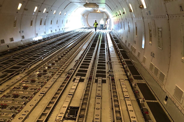 Ein Blick in den Laderaum der Boeing 747. © SDAG