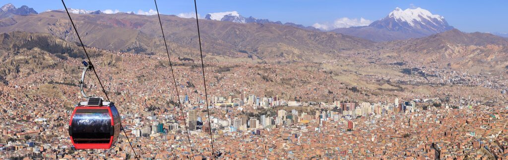 La Paz – Cable cars preventing traffic gridlock