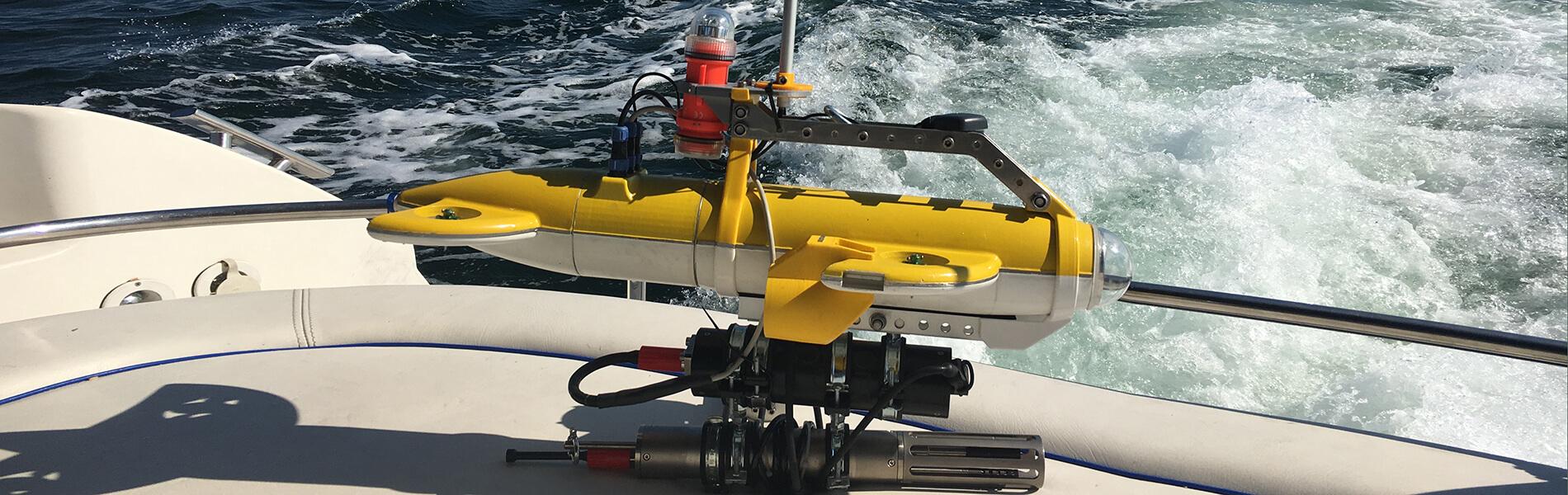 Underwater swarming: Autonomous underwater robots