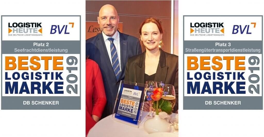 Claus Freydag und Bianca Krajewsk nahmen die Auszeichnung für DB Schenker entgegen.