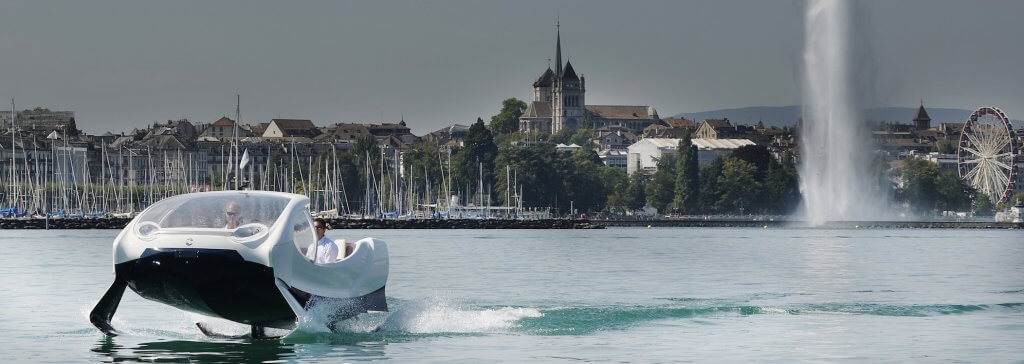 Electric water taxis – Swiss are testing the SeaBubble