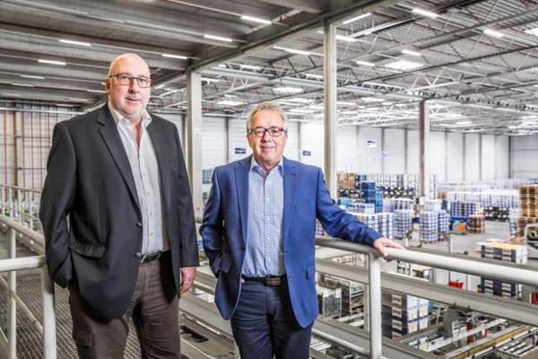 Udo Giebel, Leiter Logistik Saarland/Trier, und Peter Maas, Leiter der DB Schenker Geschäftsstelle Saarland