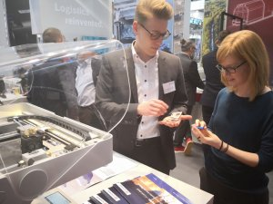 3D printing was also a hot topic at the DB Schenker booth