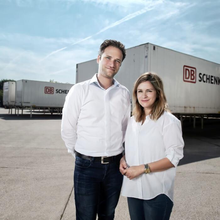 Two DB Schenker colleagues in Berlin report on their experience about job sharing. © Schenker Deutschland AG/Max Lautenschläger