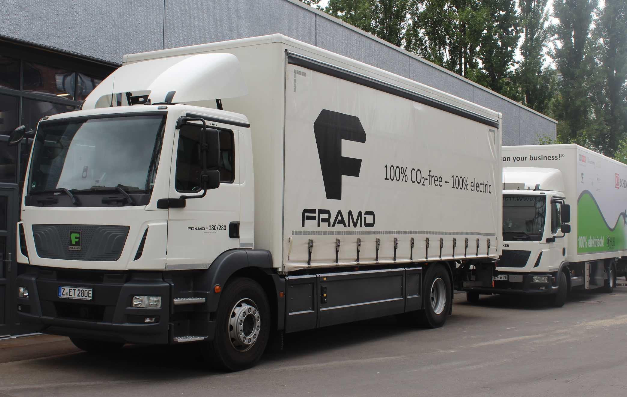 Der Framo-Lastwagen bei DB Schenker © BuckNovak