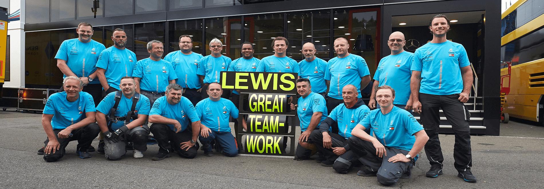 Teamgeist für Operation Formel 1