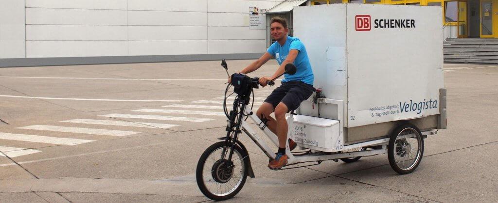 Wendige Logistik: elektrische Lastenräder sorgen für nachhaltige Transporte bei DB Schenker
