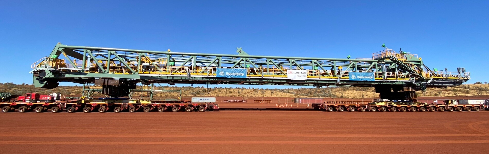 Crossing the desert by heavy truck