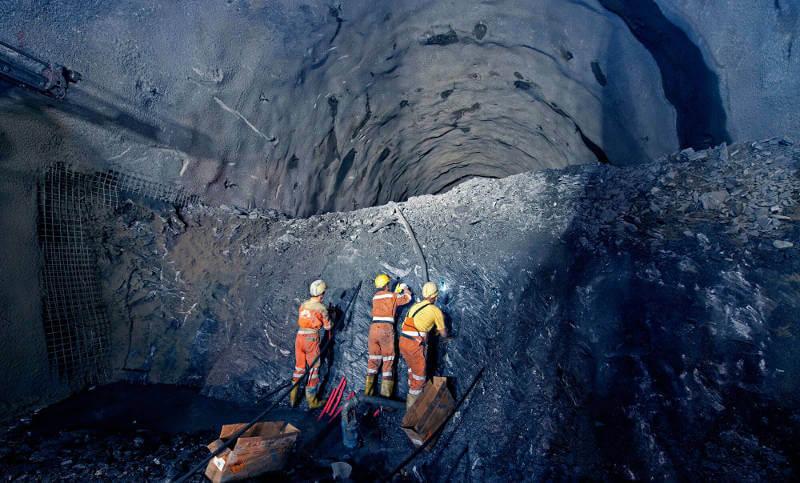 Sprengungen im Brennerbasistunnel