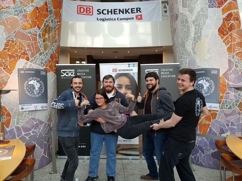 Das Siegerteam beim DB Schenker Game Jam