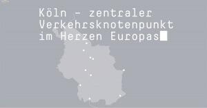 Bild einer animierte Karte vom Stadtgebiet Köln