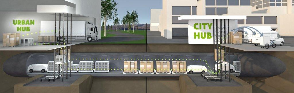 """Full pipe"" for city logistics"