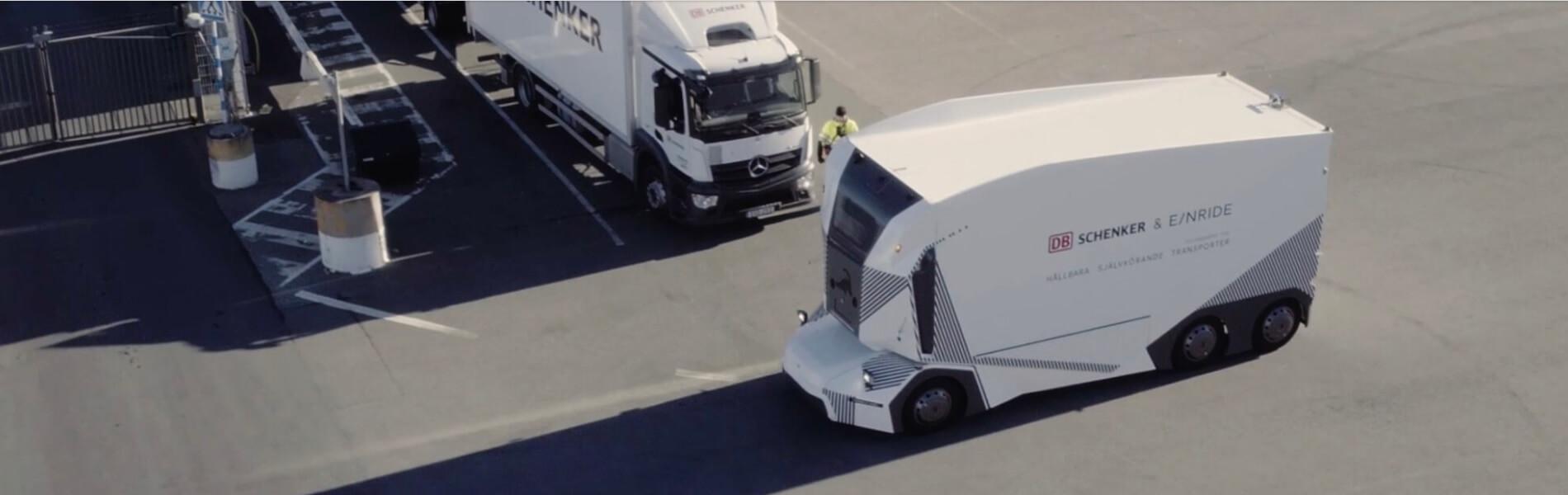 Autonome Elektro-Lkw: DB Schenker und Einride starten den Einsatz des T-Pod