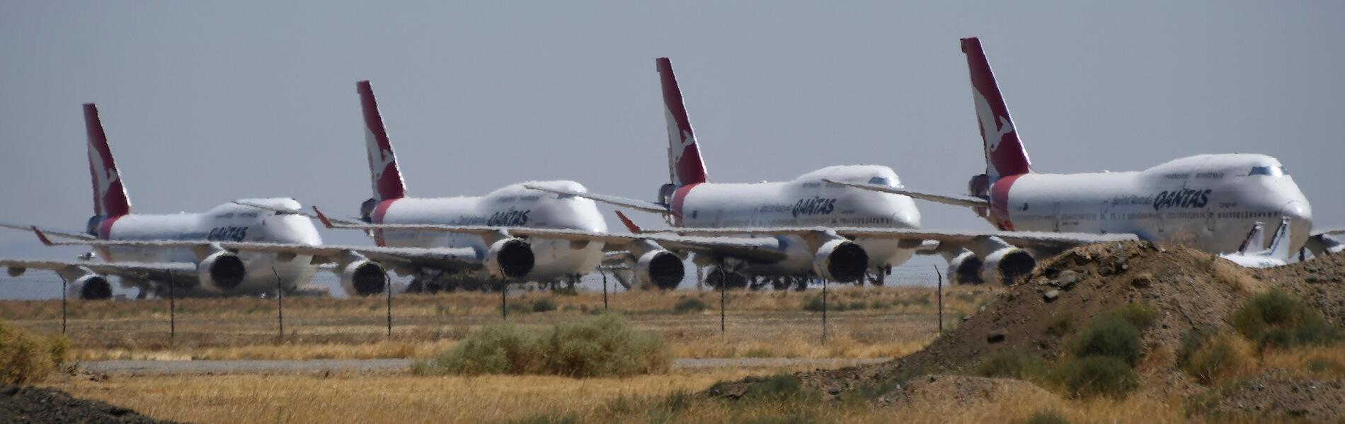 Mojave Airport: Parkplatz der Stillgelegten