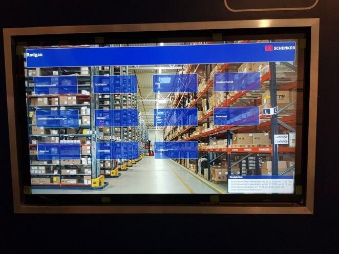 Rodgau arbeitet mt interaktiven Tools zur Visualisierung von Informationen und KPIs © DB Schenker