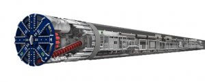 With a weight of 1,000 tons and a length of 140 meters, tunnel boring machines are underground factories on wheels.