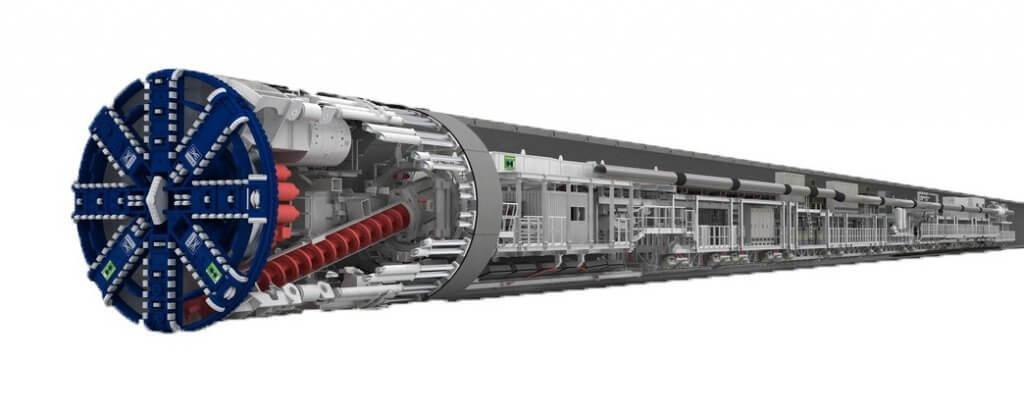 Mit 1.000 Tonnen Gewicht und 140 Metern Länge sind Tunnelbohrmaschinen unterirdische Fabriken auf Rädern.