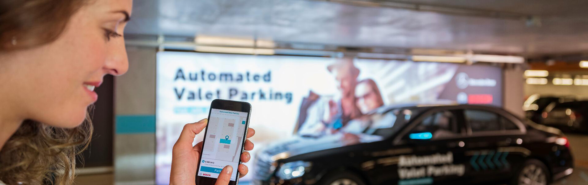 Automated Valet Parking – In the parking garage, the car itself seeks a parking space
